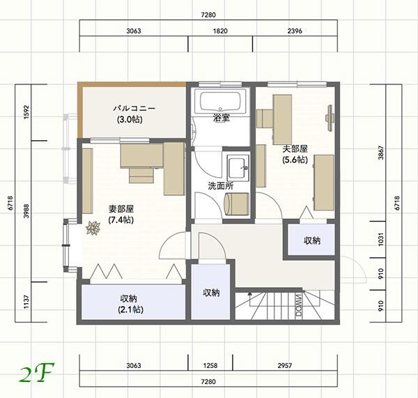 マイホームクラウド2階シミュレーション